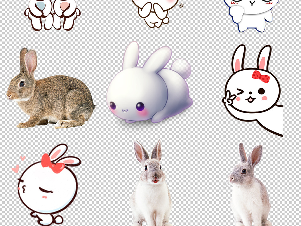 中秋节素材可爱小兔子