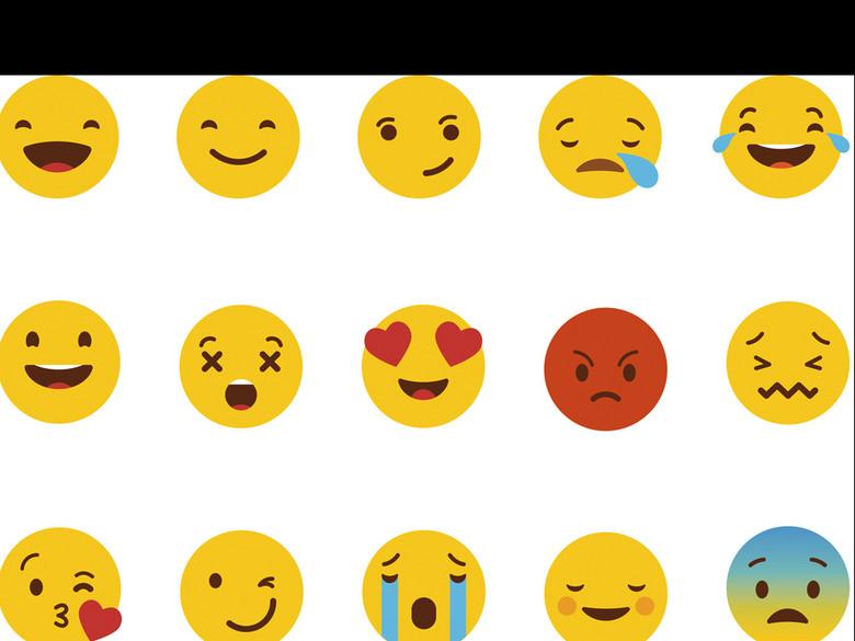 符号表情v符号AI源文件图片模板图下载(表情编的高兴背景包脸部图片图片