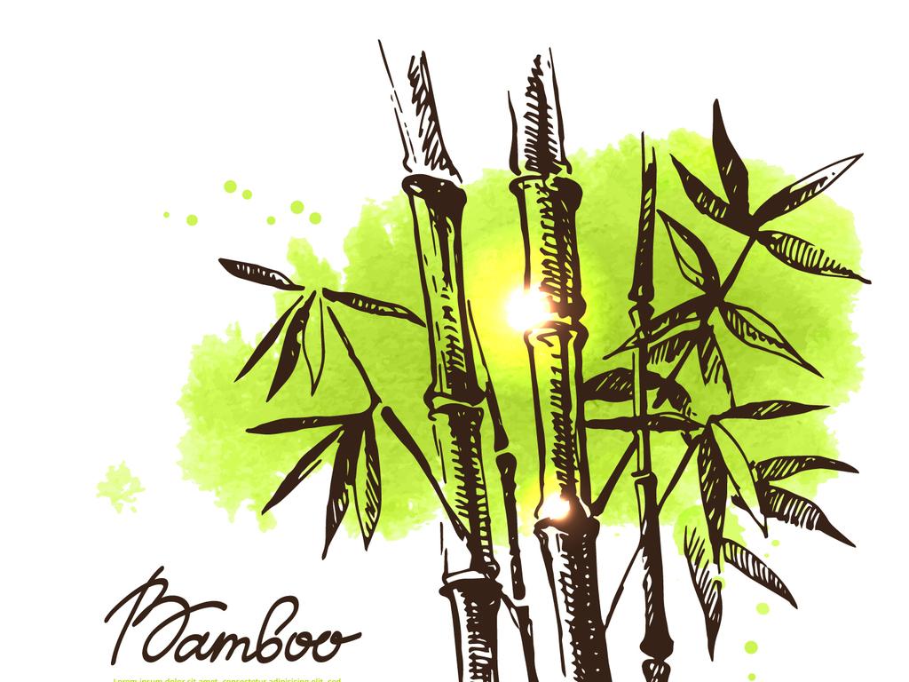png)竹子简笔画国画竹子水墨画竹子矢量素材竹子psd图片素材