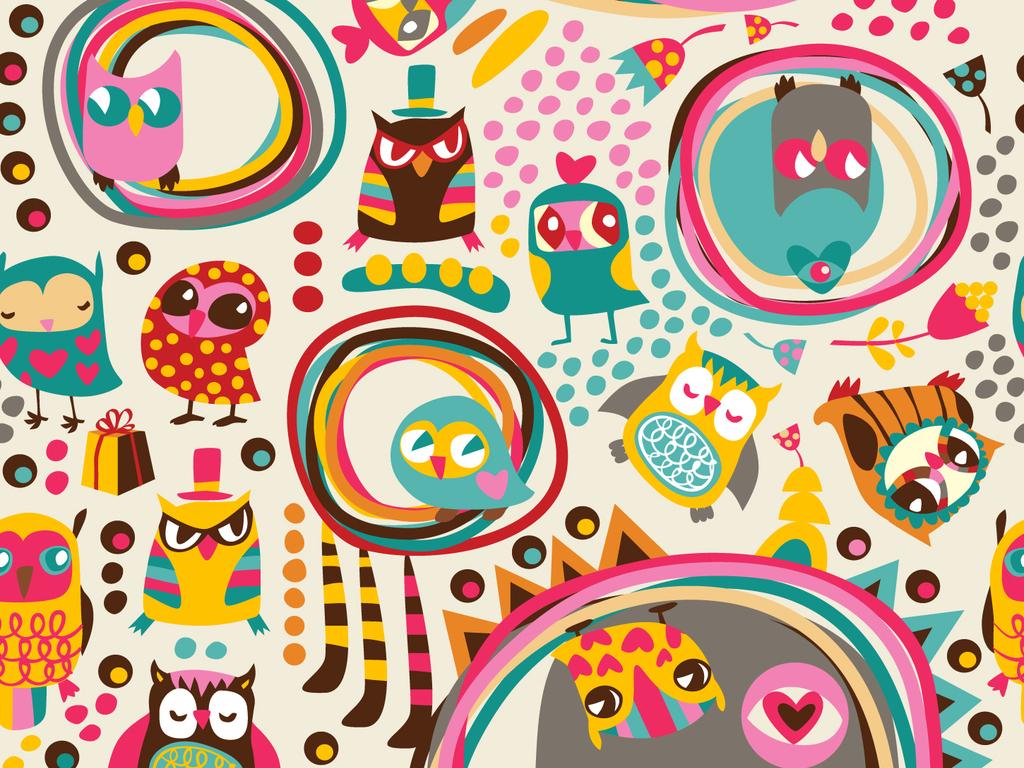 设计元素 背景素材 卡通边框 > 可爱卡通鸟学生成长猫头鹰萌萌哒背景