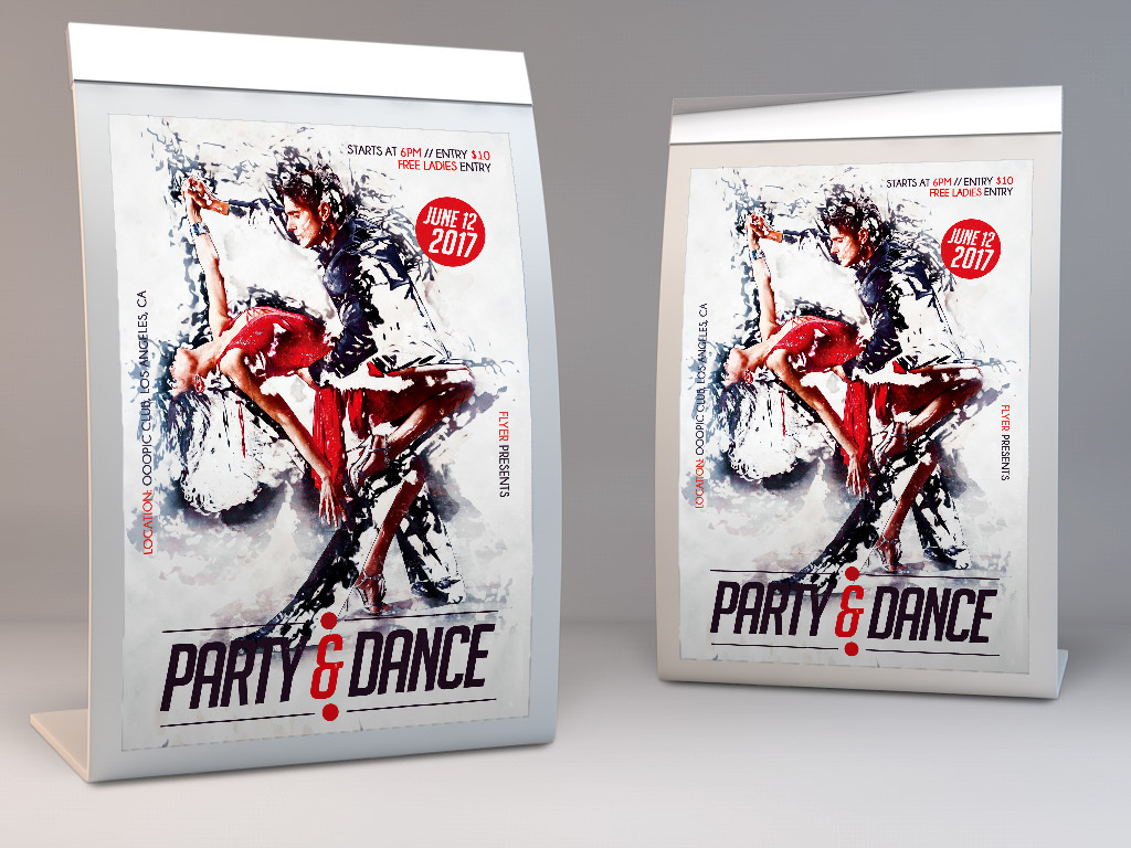 创意手绘水彩人物成人舞蹈学校招生宣传海报
