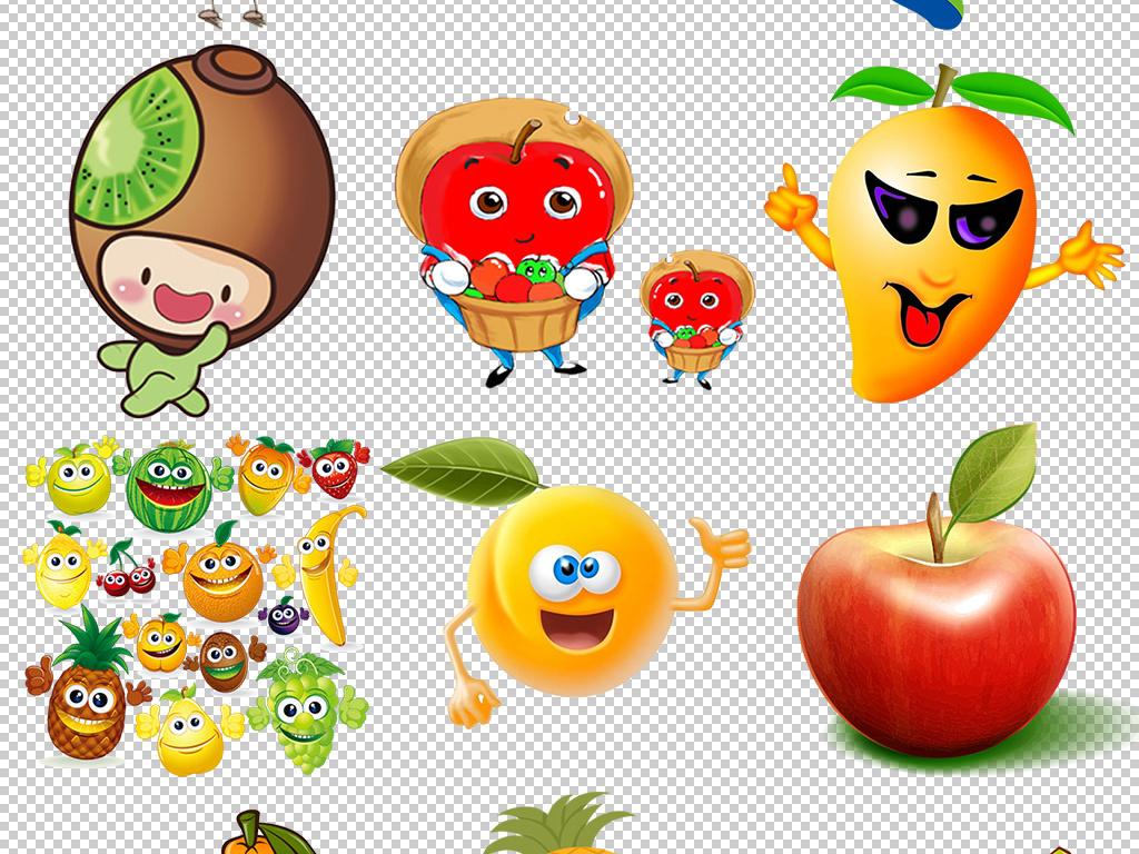 卡通手绘可爱水果表情包图片png免扣素材