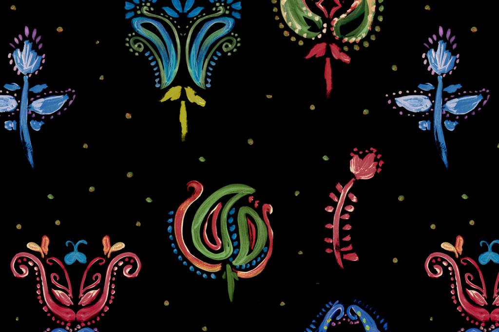 欧式花纹艺术效果花纹抱枕图案设计图片