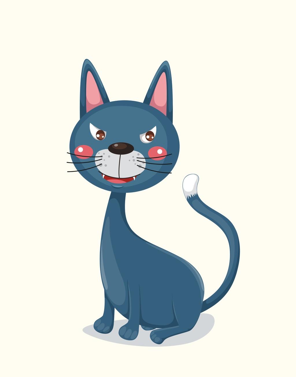 卡通动物猫咪