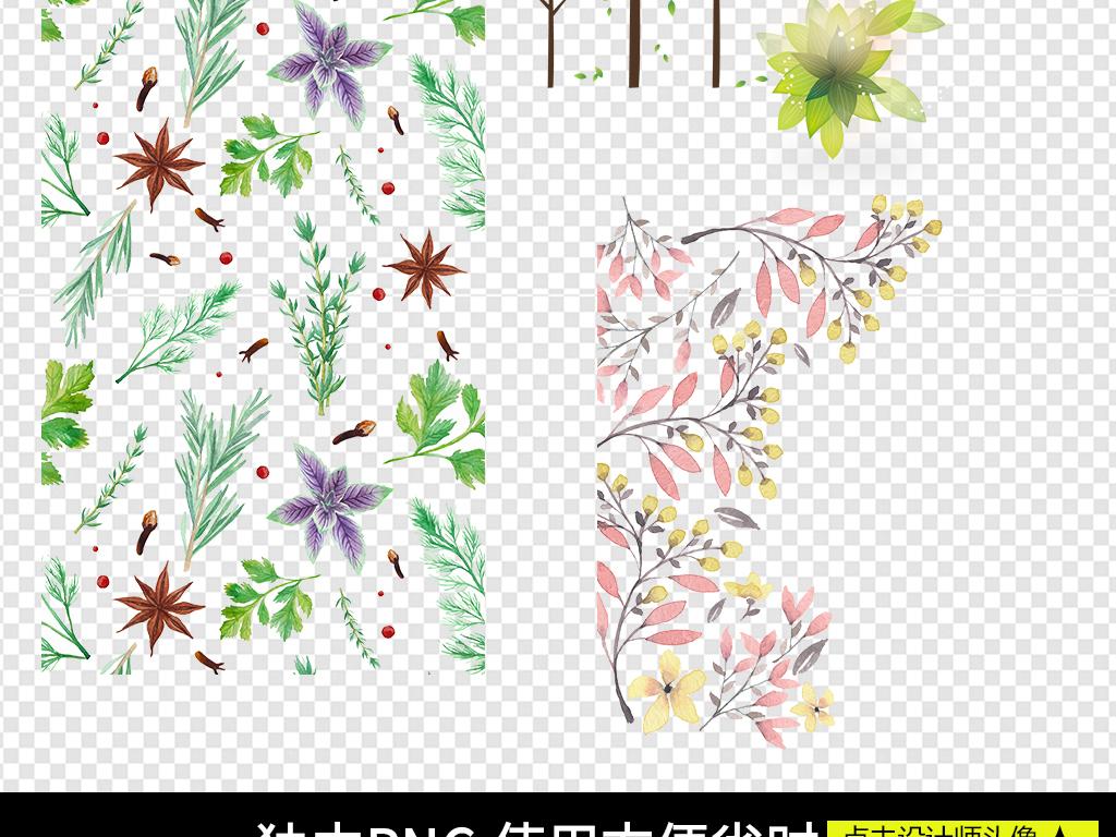 手绘树叶边框树叶花朵绿叶边框