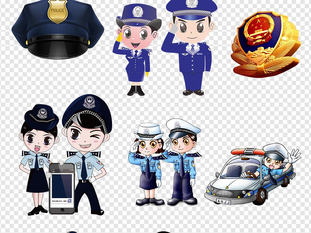人物素材人物卡通卡通公安卡通交警交警图片交警警徽交警敬礼交警卡通