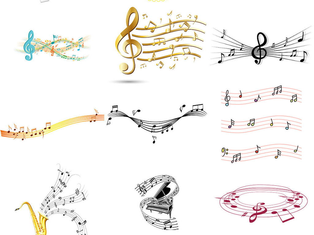 五线谱音符背景素材png免抠1图片下载png素材 效果素材图片