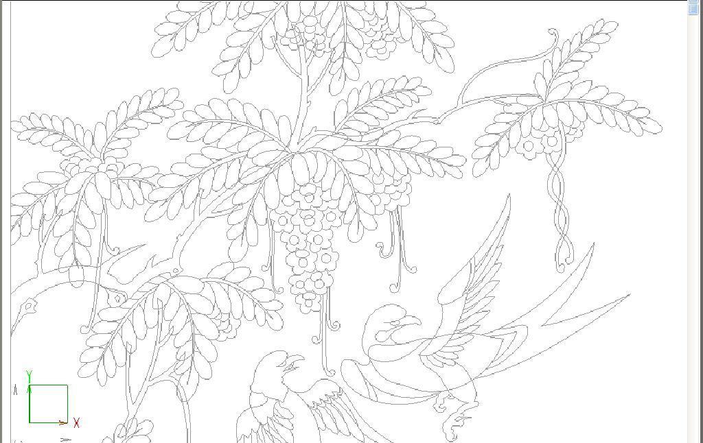 红木家具雕刻cad雕花图库牡丹花中式中式牡丹花珠宝店cadcad展板房子