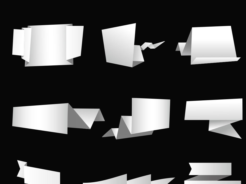 白色对话框立体矢量图标图形图片下载ai素材 效果素材图片