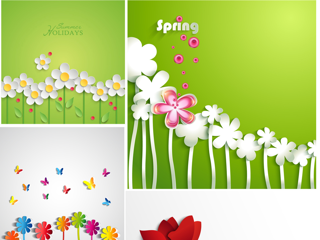 绿色花朵简笔画
