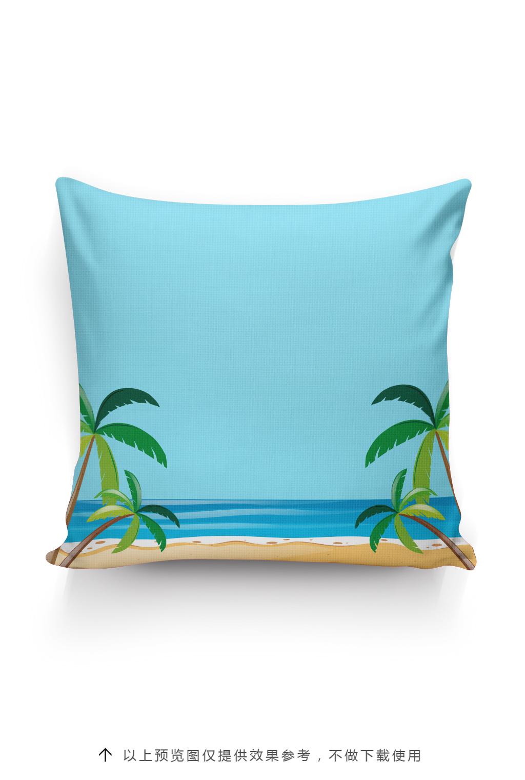 热带雨林抱枕图案设计卡通图案