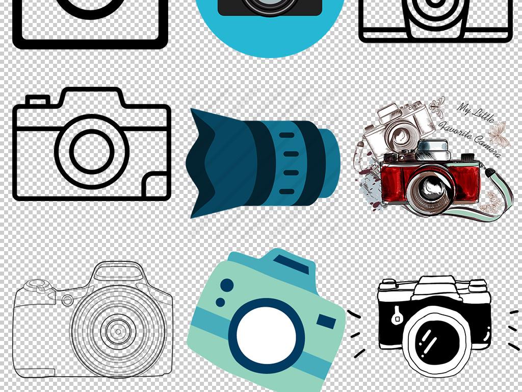 设计作品简介: 卡通手绘商务相机免扣png素材