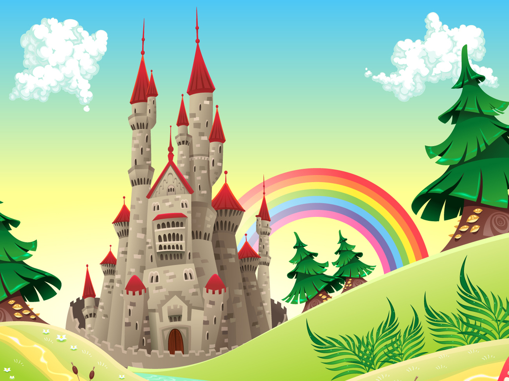 树木卡通素材童话卡通童话动漫人物动漫动画卡通动漫风景自然风景城堡