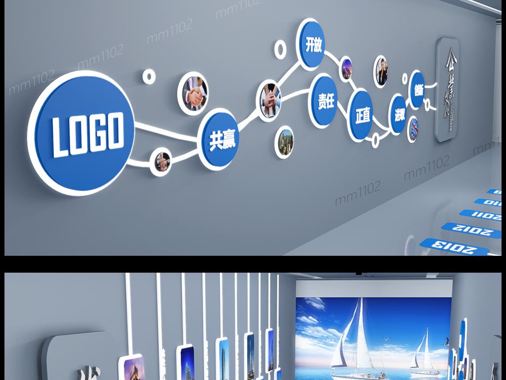 平面|广告设计 展板设计 企业文化墙 > 企业文化墙创意设计公司走廊图片