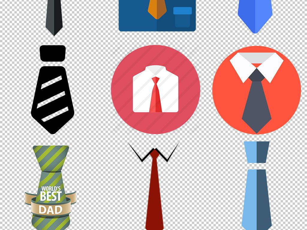 科技商务人士卡通手绘领带png免扣图片