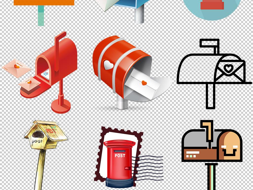 卡通手绘信箱邮箱png免扣设计图片