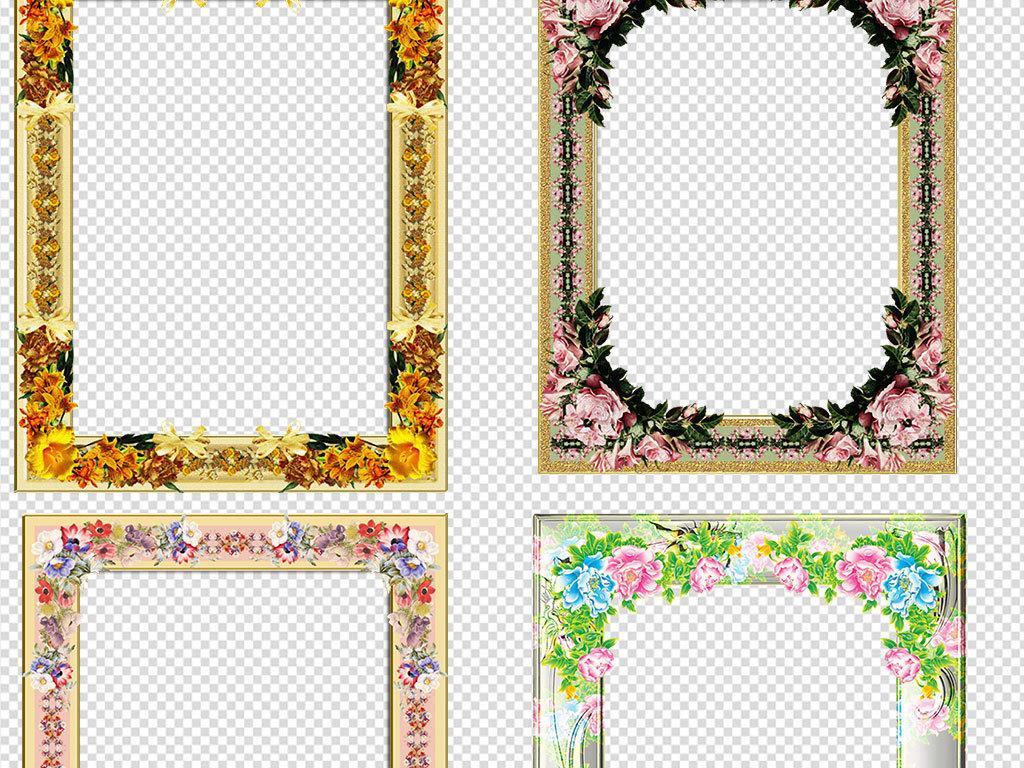 欧式花纹边框花纹边框矢量图黑白花纹边框欧式花纹边