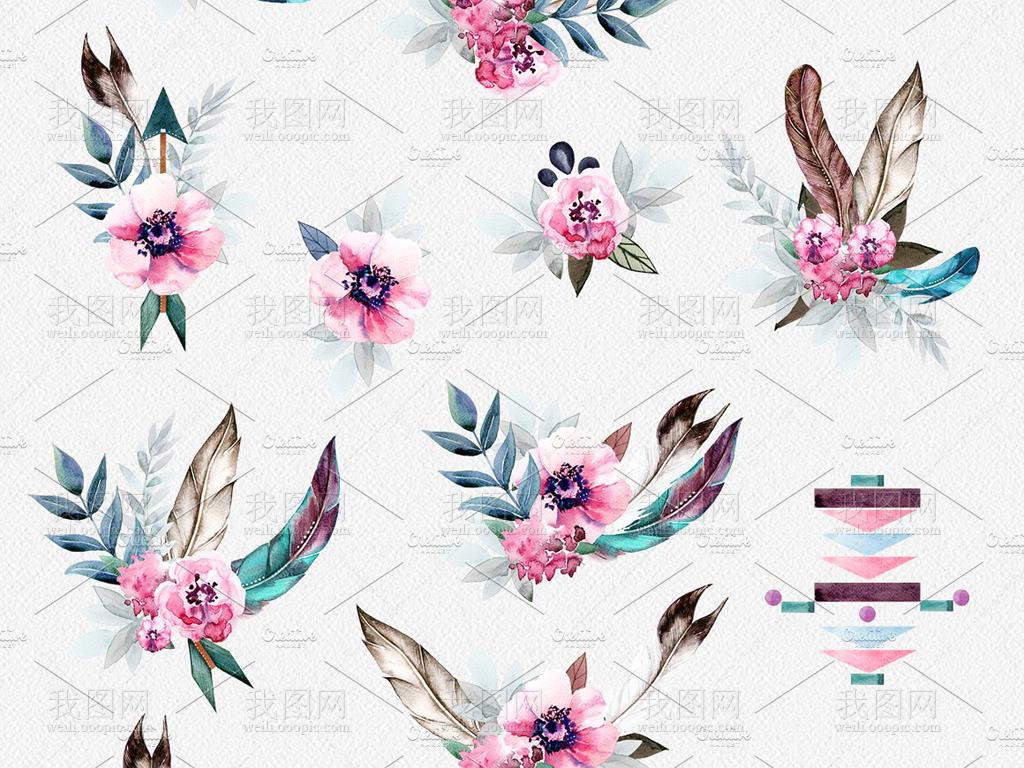 素材花束唯美复古唯美花手绘人物手绘背景手绘墙手绘背景墙手绘花鸟