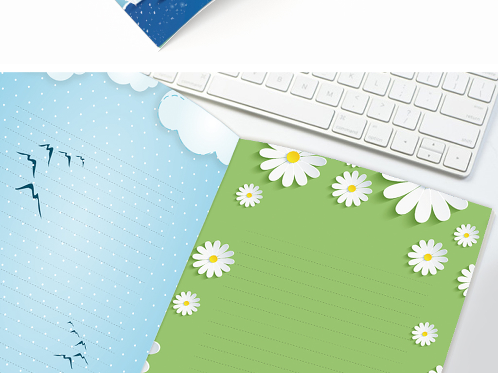 空白合集|边框|花边 > 作文集创意层叠校刊画册卡通小学生背景信纸图片