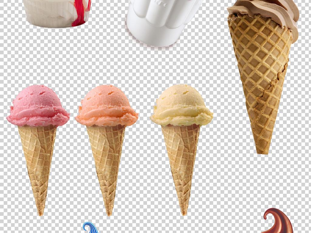 夏天甜筒冰淇淋PNG透明背景素材图片下载png素材 其他