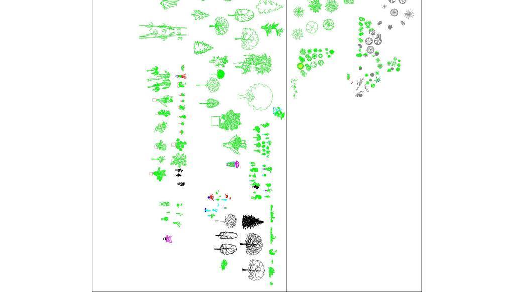 cad植物平面立面图块园林景观植物素材全集(5000余种植物平面立面图)