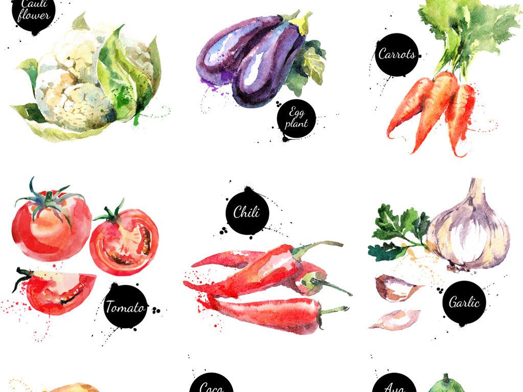 手绘水果蔬菜素材艺术字艺术字设计艺术字体英文字母艺术字阿拉伯数字