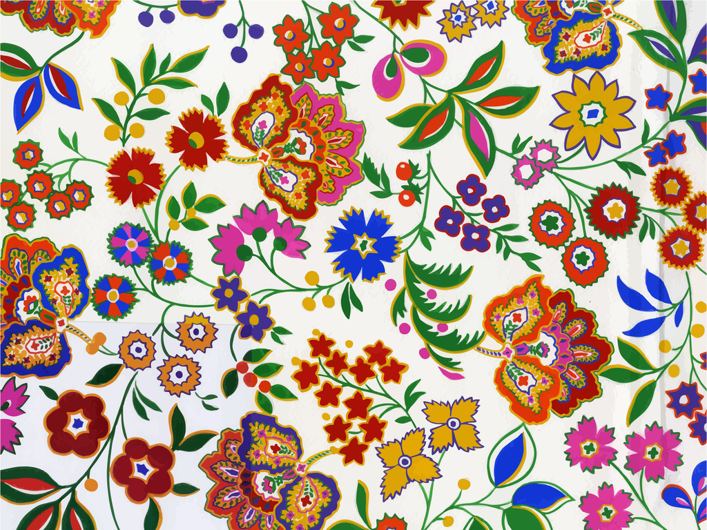 手绘条纹蛋壳的斑点黑白线描花卉双色调网眼刺绣套染图案