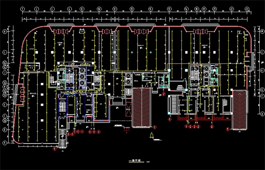 综合住宅楼给排水CAD施工图
