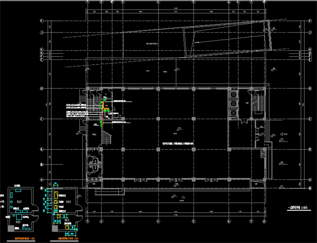 照明平面图防雷平面图办公楼电气装修图纸办公楼全套电气图纸机房图纸