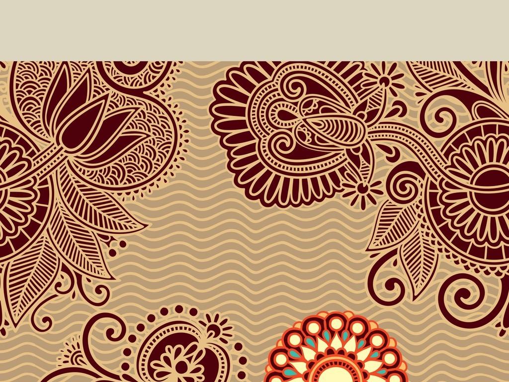 设计作品简介: 抽象几何四方连续定位印花欧式花纹