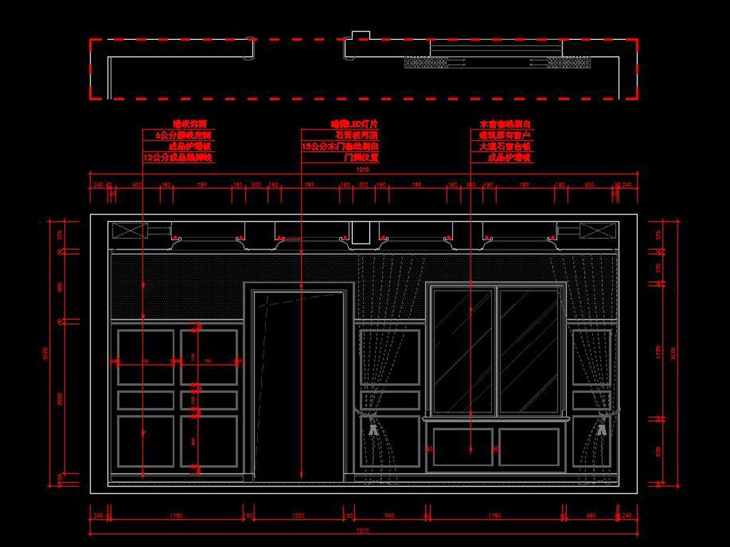 美式风格家装全套CAD施工图效果图