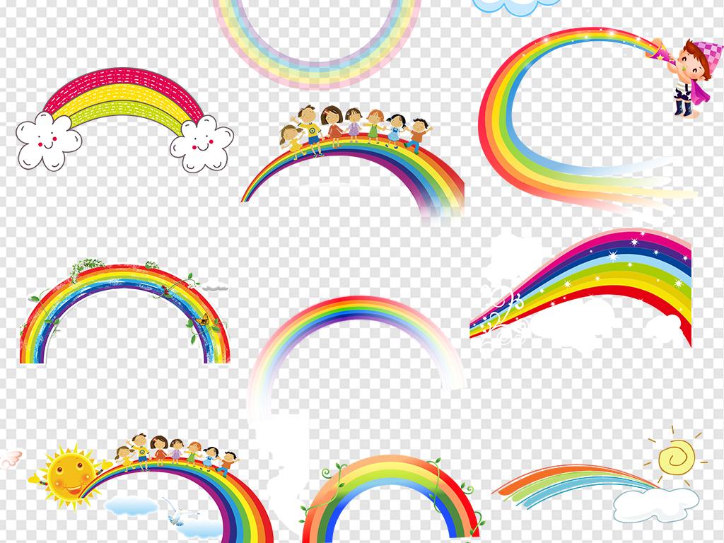 彩虹条                                  手绘