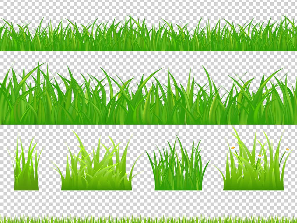 草地边框PNG透明背景素材图片下载png素材 其他