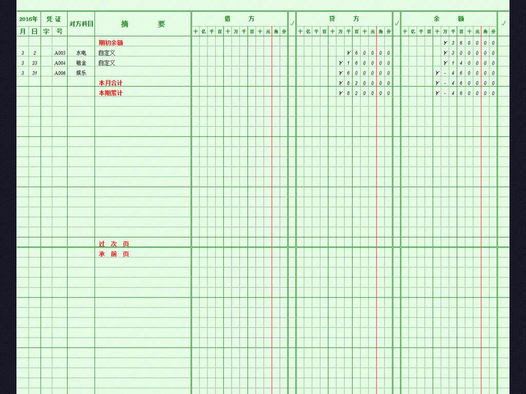 收入支出表格模板_收入和支出的表格