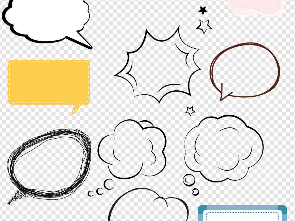 卡通对话框气泡框素材