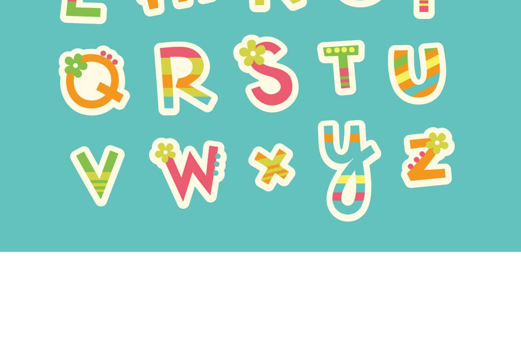 常用可爱卡通字美术字艺术字字体设计图片