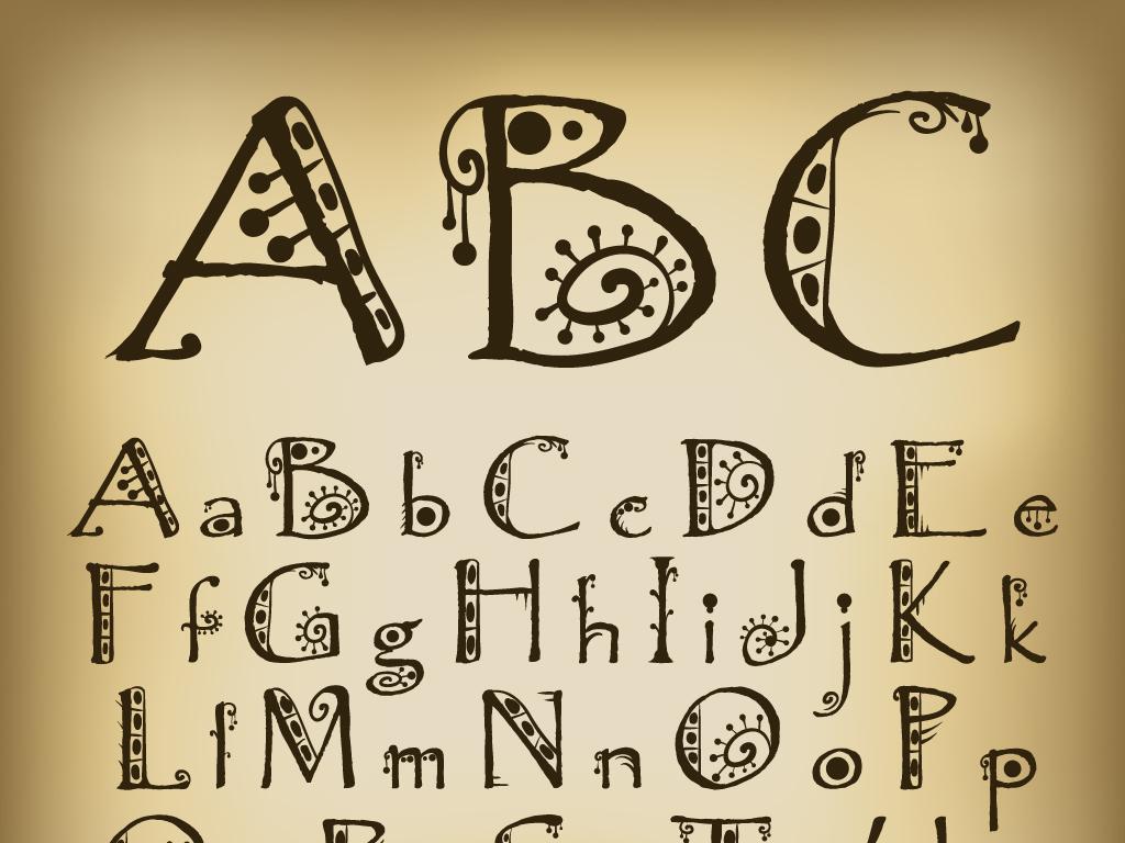 个性手绘字体铅笔字艺术字创意美术字图片下载eps素材