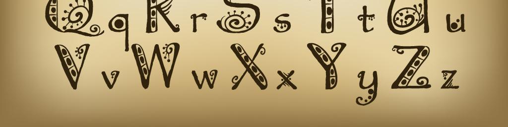 个性手绘字体铅笔字艺术字创意美术字