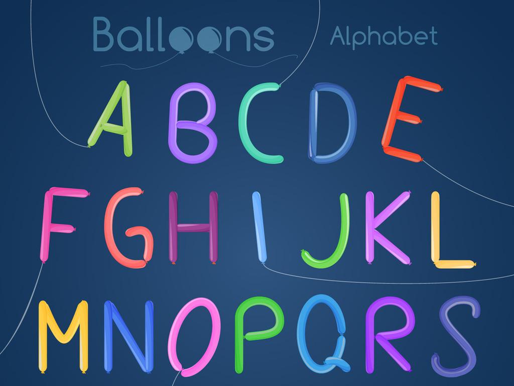 气球字体艺术字广告字体可爱美术字图片