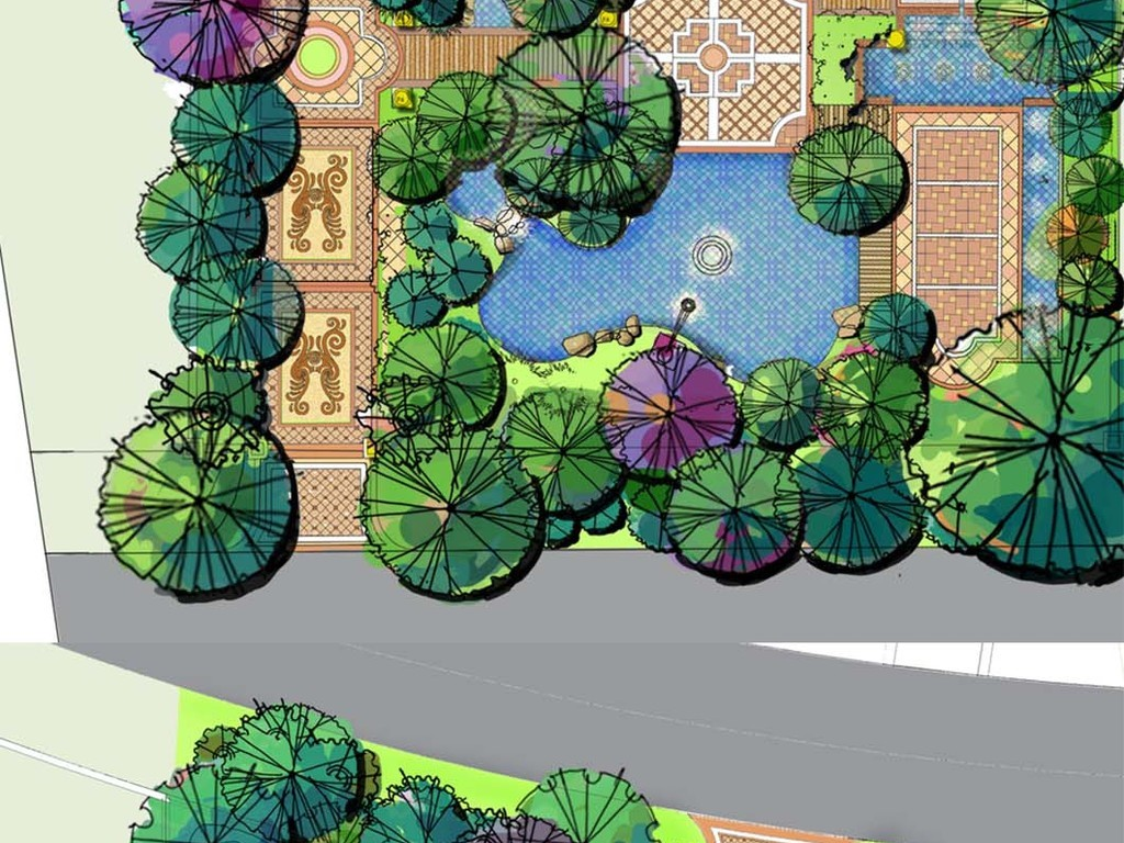 别墅庭院私家花园景观设计