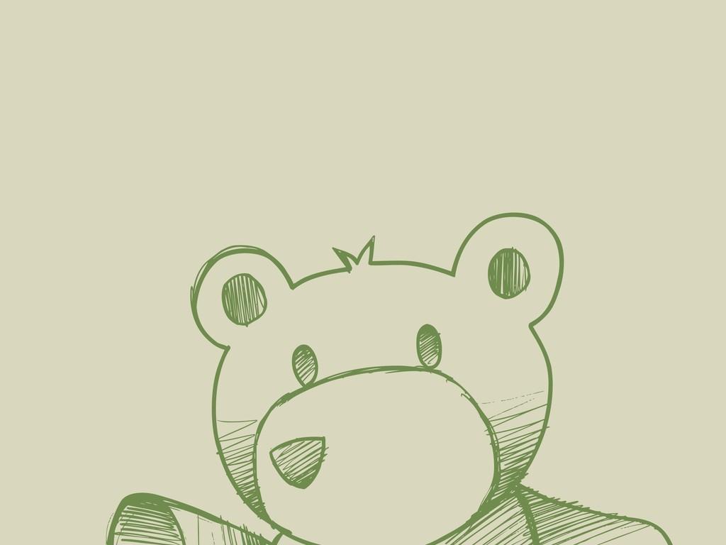 手绘卡通动物素描效果