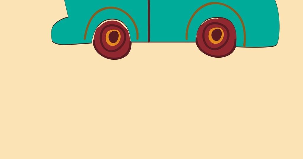 卡通交通工具汽车