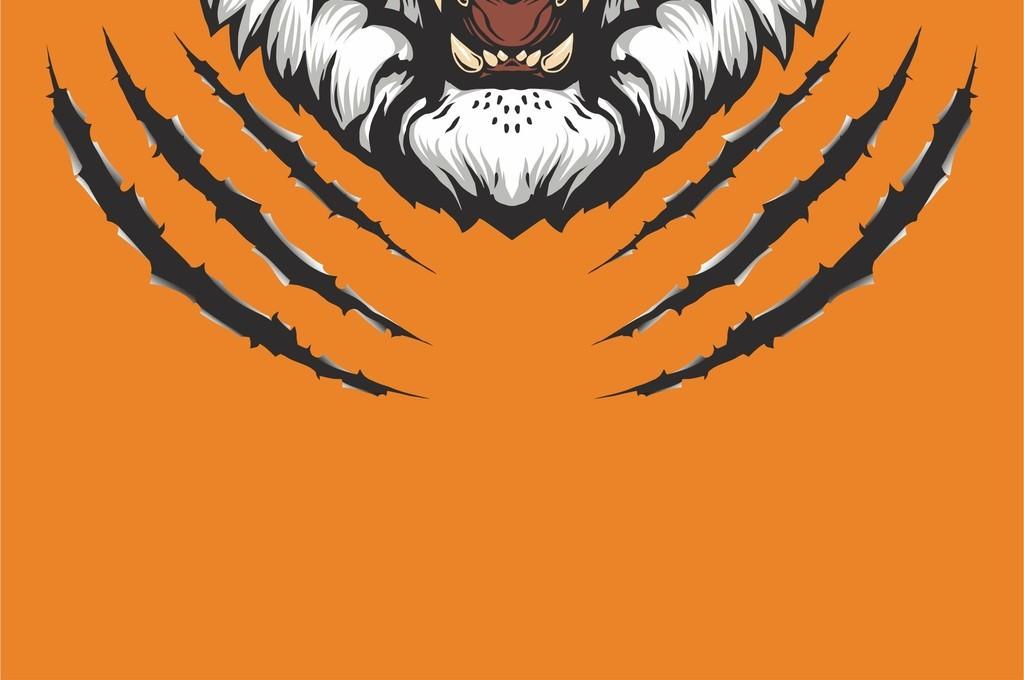 老虎头图案潮牌欧货时尚图案ai动物图案