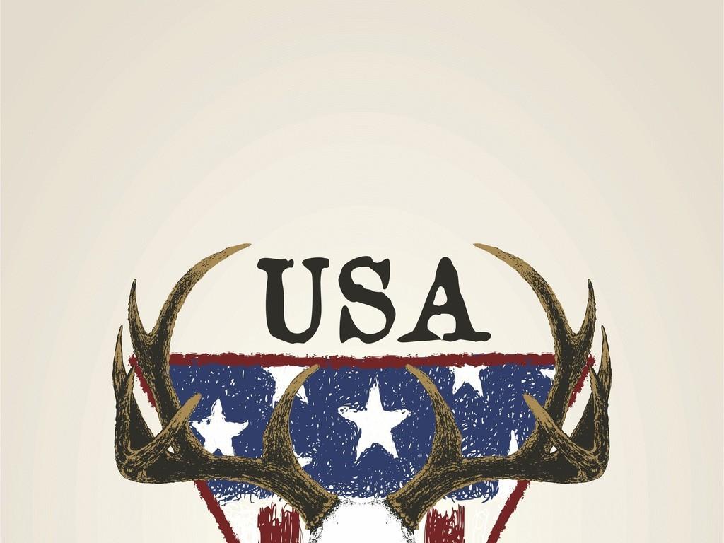 ai)鹿ai国旗ai字母ai印花图案ai卡通动物图案aiai印花潮牌t恤图案ai素