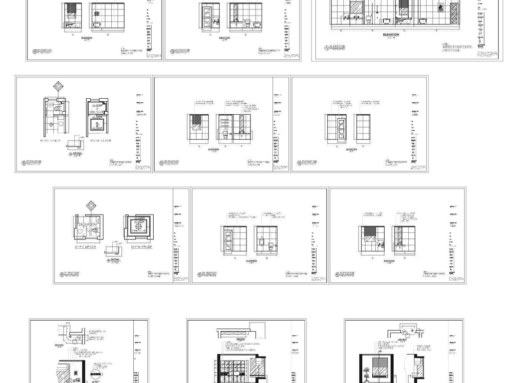 dwg)实木酒柜cad整体橱柜橱柜cad实木橱柜厨房厨房装饰图厨房cad图