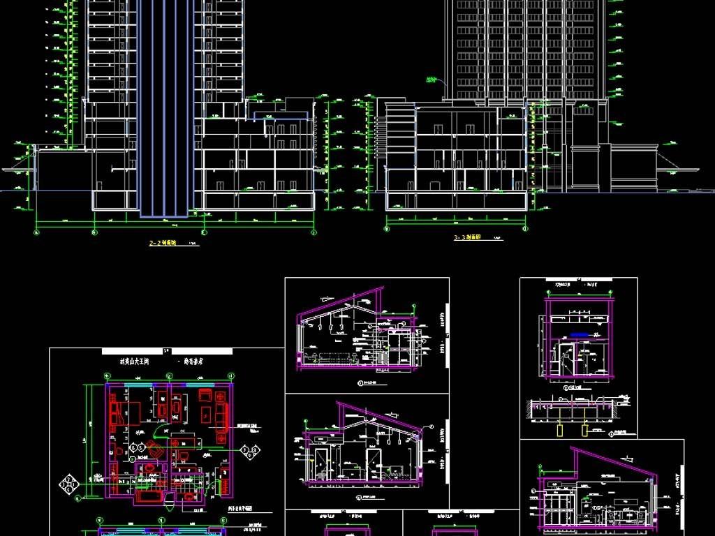 酒店和商务套房CAD平面设计图