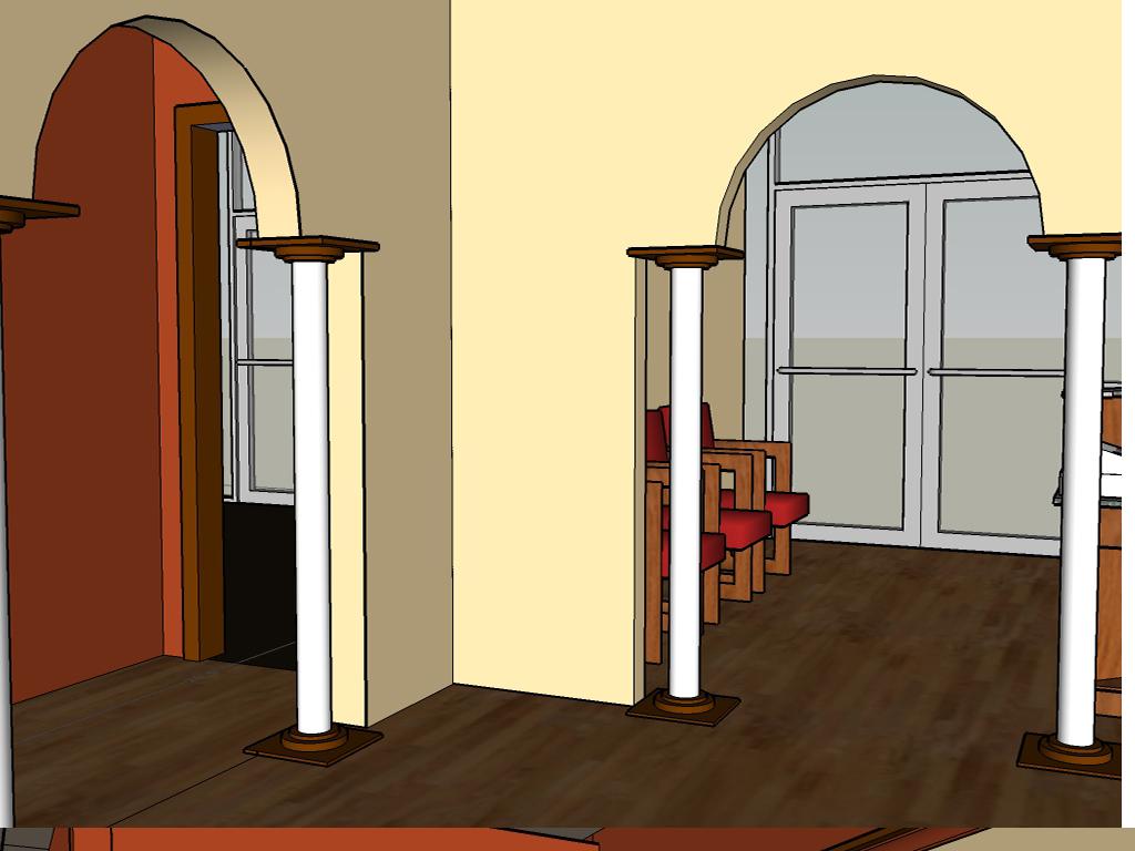 大型欧式风格理发店室内整体设计su模型