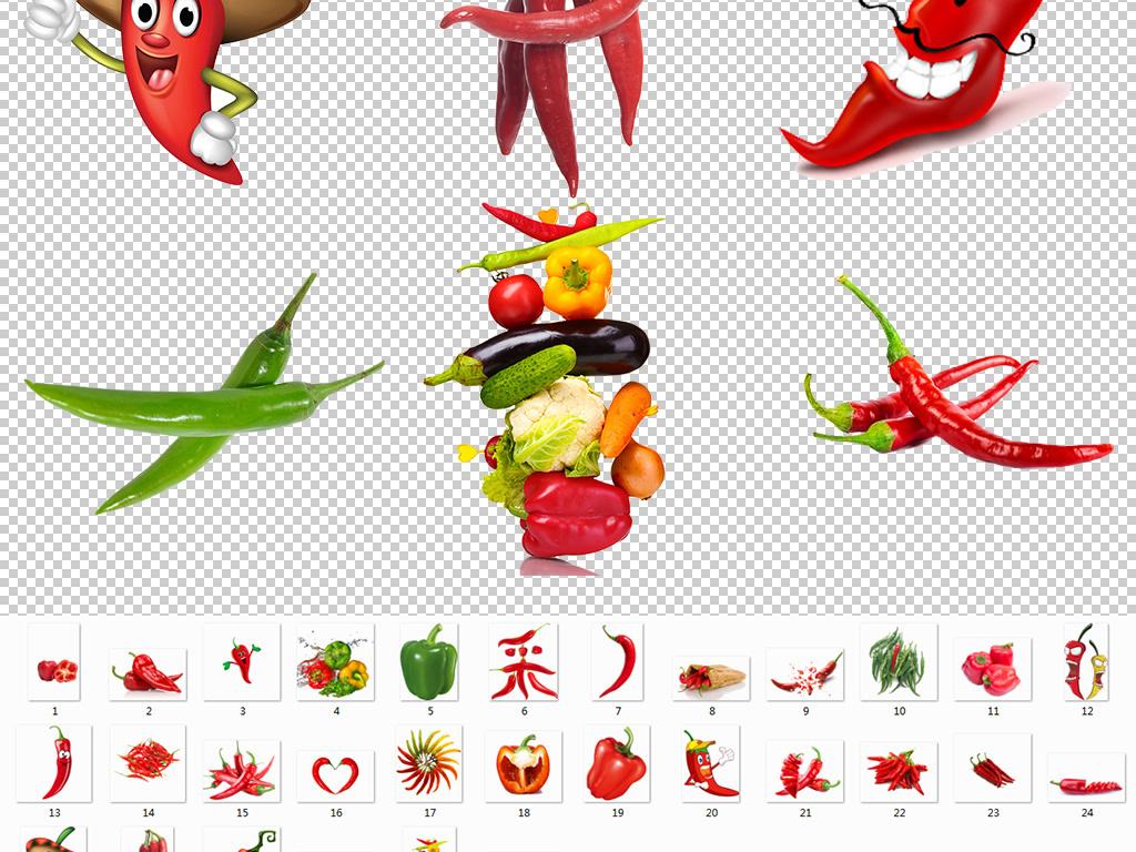 红色小辣椒卡通辣椒png免扣海报图片图片