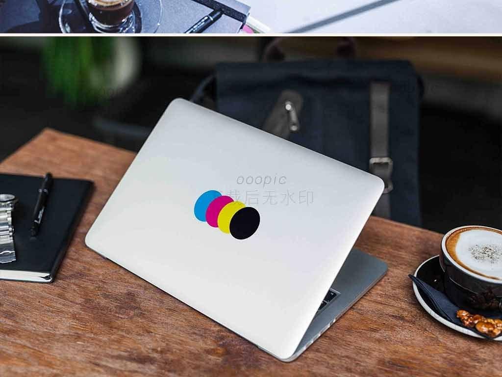 笔记本电脑贴纸防护膜电脑贴设计样机图片