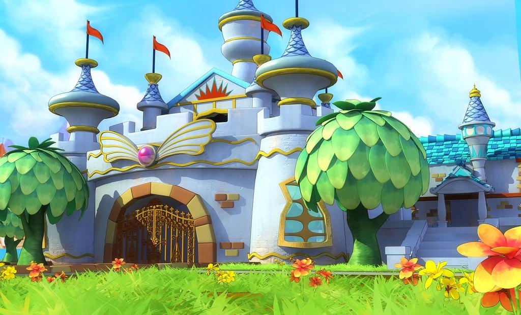 3d卡通城堡动画片模型